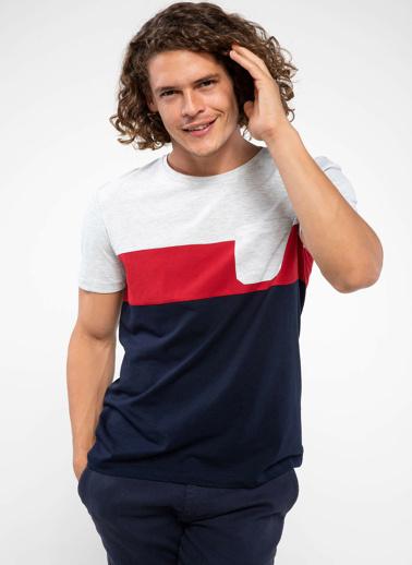 DeFacto Cep Detaylı T-shirt Gri